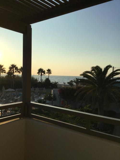 Coucher soleil Retyhmnon Crète