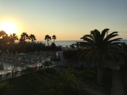 coucher de soleil Réthymnon Crête