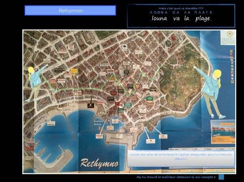 Plan de Réthymnon Crète
