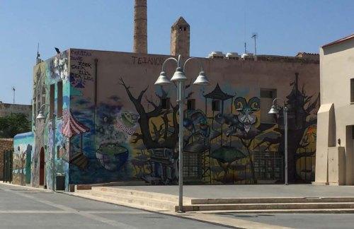 Murs tagués Rethymnon Crète