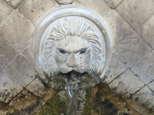 Fontaine tête de lion Spili Crète.