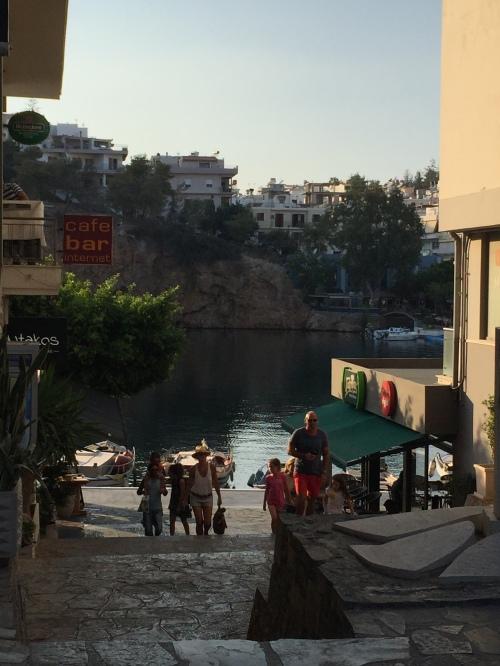 Agios Nikolas lac Crète.